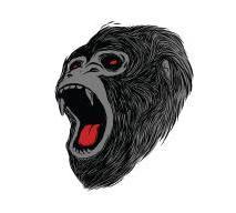 left facing gorilla head